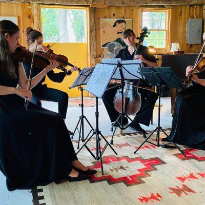 Spirited Quartet Salonnières at Millbrook's Music Barn