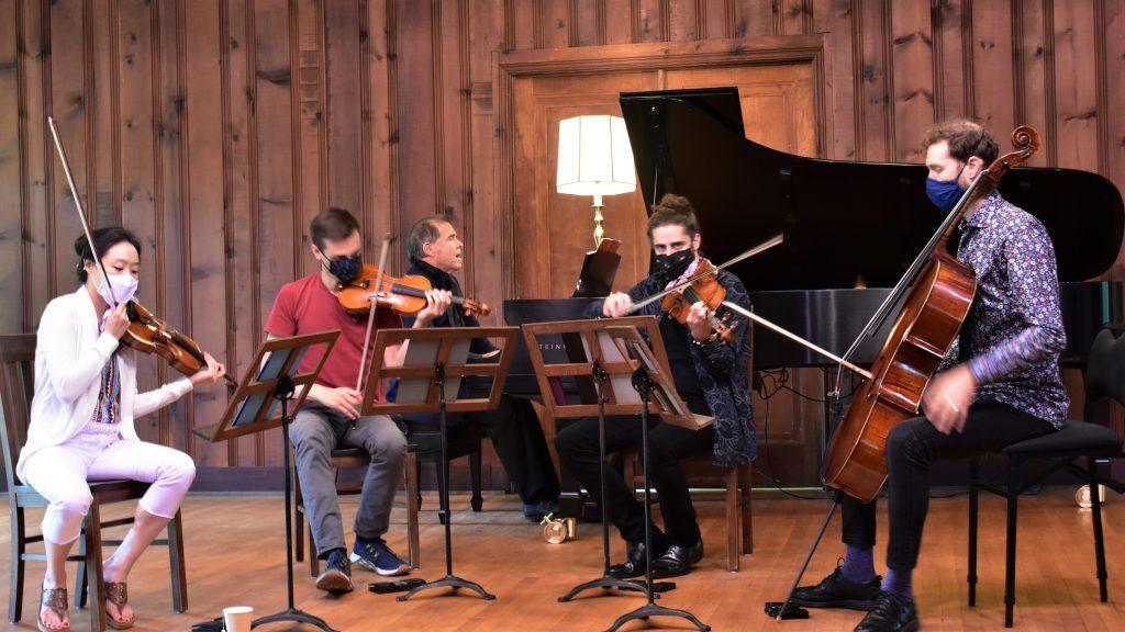 Maximum Symphonic Effect: Tesla Quartet & Misha Dichter at Music Mountain